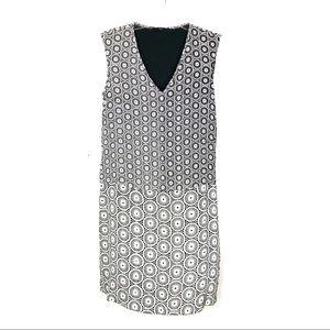 Tibi   Black & White Drop Waist Shift Dress